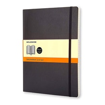 Moleskine Classic Extra Large Black Soft Cover Ruled Notebook