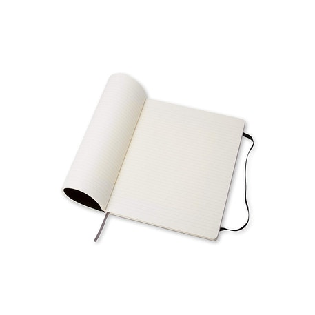 Moleskine Classic Extra Large Black Soft Cover Ruled Notebook | Cass Art