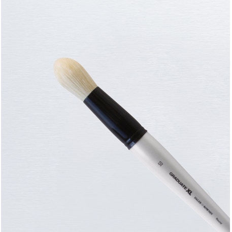 Daler Rowney Graduate XL White Bristle Round Brush | Cass Art