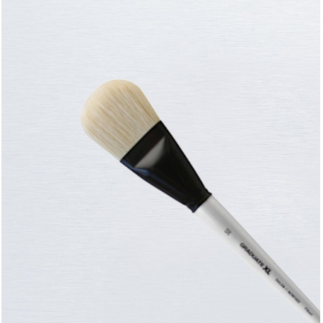 Daler Rowney Graduate XL White Bristle Filbert Brush | Cass Art