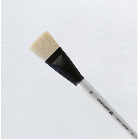 Daler Rowney Graduate XL White Bristle Flat Brush | Cass Art