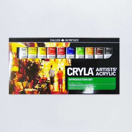 Daler Rowney Cryla Acrylic Introduction 22ml Set of 10 | Cass Art