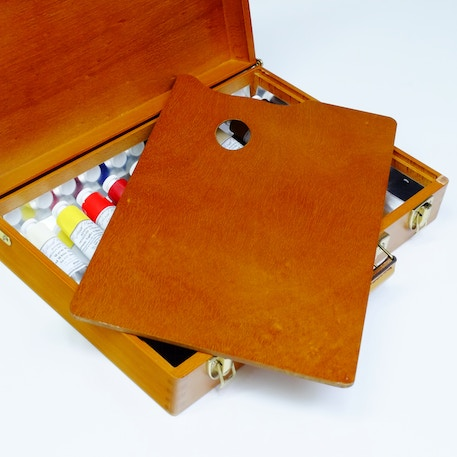 Luxury Wooden Oil Set with Michael Harding Colours, Brushes & Box - Cass Art Exclusive | Cass Art