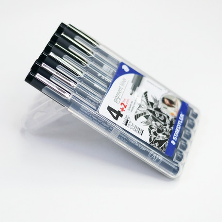 Staedtler Pigment Liner Set of 4 with 2 Free - Cass Art Exclusive
