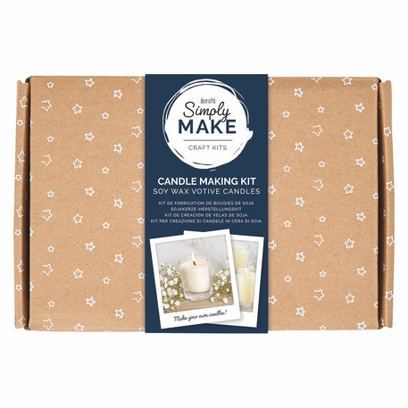 Docrafts Simply Make Candle Making Kit - Soy Wax Votive Candles | Cass Art