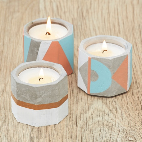 Docrafts Simply Make Candle Making Kit - Concrete Tealights | Cass Art