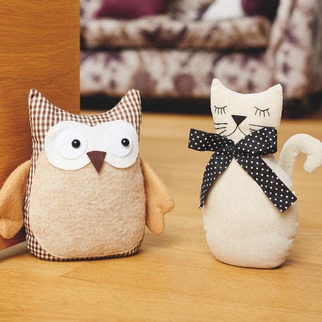 Docrafts Simply Make Sewing Kit - Door Stop Cat | Cass Art