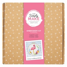 Docrafts Simply Make Embroidery Kit - Flamingo