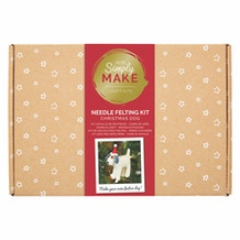 Docrafts Simply Make Needle Felting Kit - Christmas Dog
