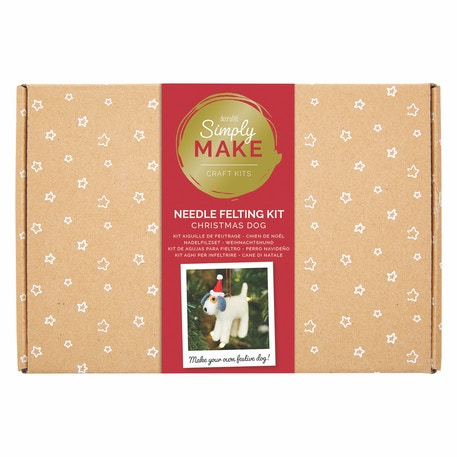 Docrafts Simply Make Needle Felting Kit - Christmas Dog | Cass Art