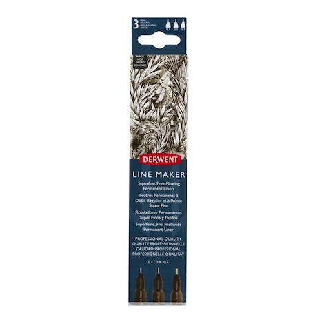 Derwent Line Maker Black Set of 3 | Cass Art