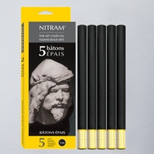 Nitram Batons Extra Soft Round 12mm Pack of 5