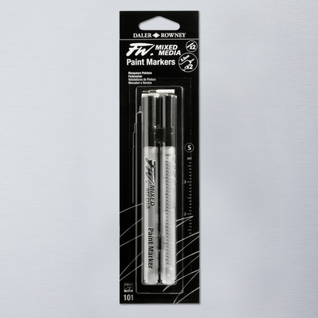 Daler Rowney FW Small Technical Empty Markers + 2 Nibs 0.8mm Set of 2 | Cass Art