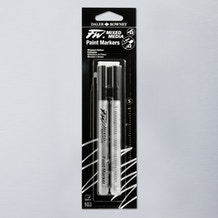 Daler Rowney FW Small Round Empty Markers + 2 Nibs 1-2mm Set of 2
