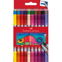 Faber Castell Double Ended Fibre Tip Marker Assorted Colours Set of 20