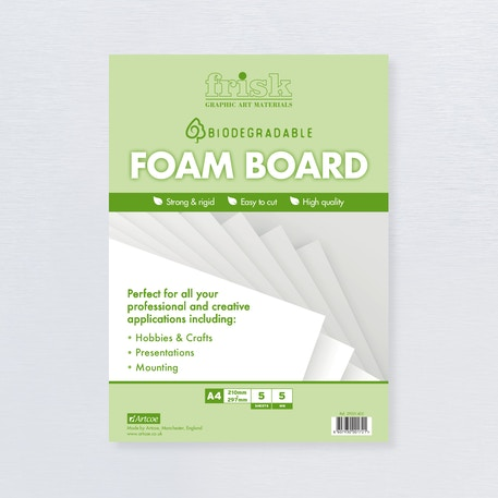 Frisk Bio-degradable Foamboard 5mm | Cass Art