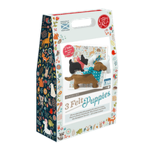 The Crafty Kit Company Sew Your Own 3 Felt Puppies Kit
