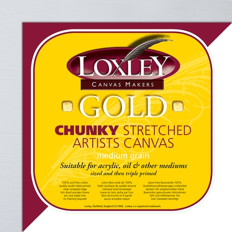 Loxley Gold Deep Edge Artists Canvas | Cass Art