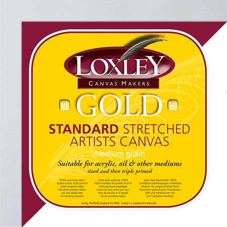 Loxley Gold Traditional Profile Artists Cotton Canvas | Cass Art