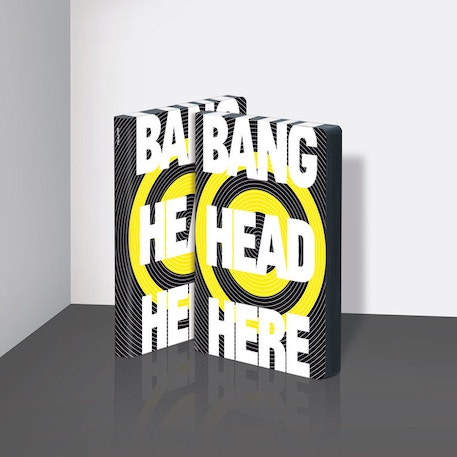 Nuuna Graphic L Notebook Bang Head Here | Cass Art