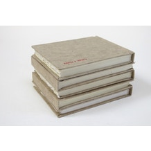Khadi Handmade Hardback Sketchbooks 210gsm Rough Natural Cover 13 x 16cm 32 Pages