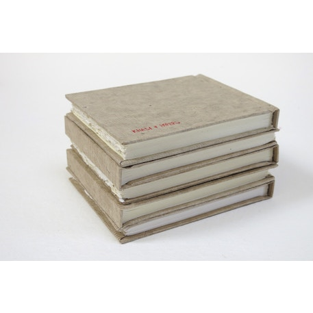 Khadi Handmade Hard Back Sketchbooks 210gsm Rough Natural Cover 13 x 16cm 32 Pages | Cass Art