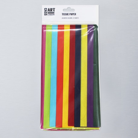 Tissue Pack 20 Sheets Assorted Colours | Craft Tissue Paper | Cass Art