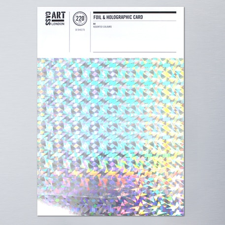 Cass Art Holographic & Foil Card A4 Pack of 10 | Cass Art
