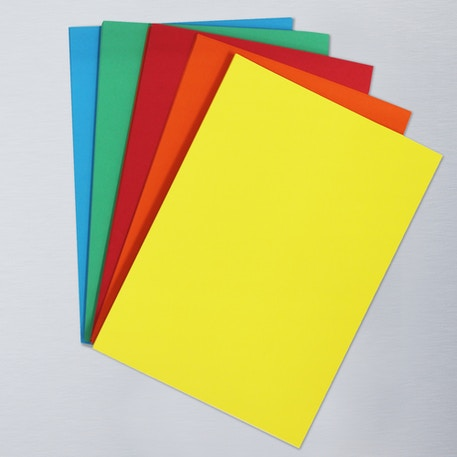 Cass Art Assorted Coloured Card A4 Pack of 75 | Cass Art