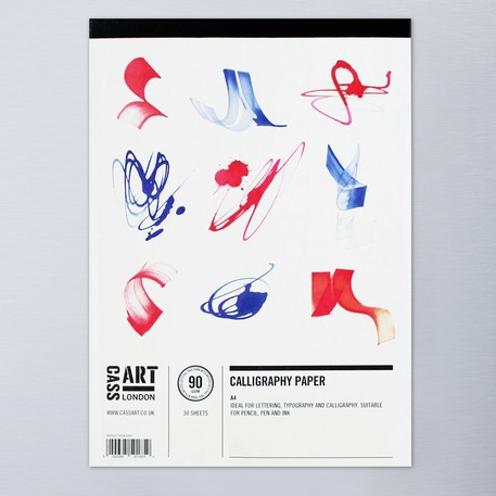 Cass Art Calligraphy Pad 90gsm 30 sheets A4 | Cass Art