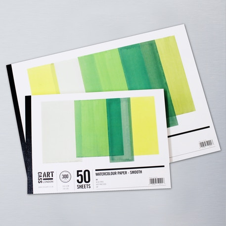Cass Art Jumbo Smooth Hot Press Watercolour Pad 300gsm 50 Sheets | Hot Pressed Watercolour Paper | UK's Finest Art Supplies | Cass Art