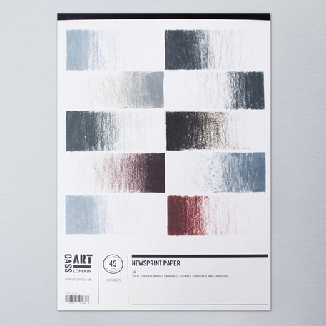 Cass Art Newsprint Pad 45gsm 100 sheets A3 | Cass Art