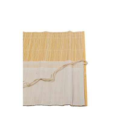 Jakar Bamboo Brush Roll with 10 Cotton Pockets and String Tie 36 x 34cm