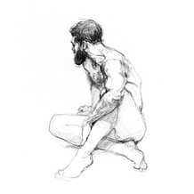 4th June, Jake Spicer Life Drawing at Cass Art Islington: Surface