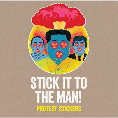 Laurence King Stick it to the Man Sticker Book | Cass Art
