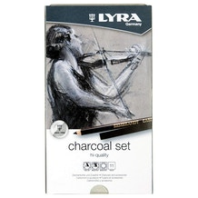 Lyra Rembrandt Artists' Quality Charcoal Set of 11