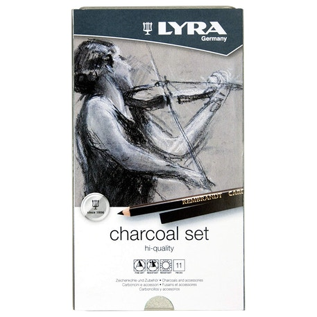 Lyra Rembrandt Artists' Quality Charcoal Set of 11 | Cass Art