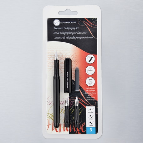 Manuscript Beginners Calligraphy Set Black | Cass Art