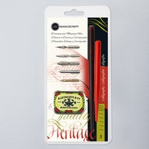 Manuscript Leonardt Drawing & Mapping Nib Set