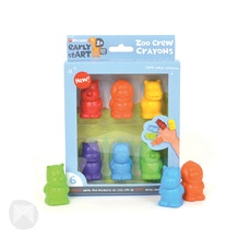 Micador Early Start Zoo Crew Crayons Pack of 6