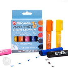 Micador Early Start Chunky Stampers Pack of 5