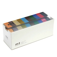 MT Washi Masking Tape Dark Colour Pack of 10 Rolls