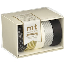 MT Washi Masking Tape Gift Box Monotone 2 Pack of 5 Rolls