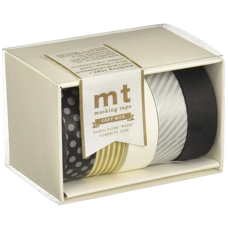 MT Washi Masking Tape Gift Box Monotone 2 Pack of 5 Rolls | Cass Art