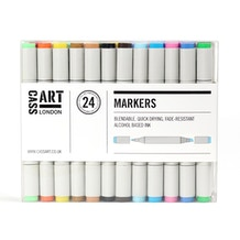 Cass Art Marker Set of 24 - Assorted Colours