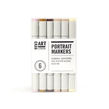 Cass Art Marker Set of 6 - Portrait Tones