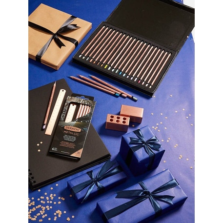 Derwent Metallic 20th Anniversary Coloured Pencils Gift Set of 20 | Cass Art
