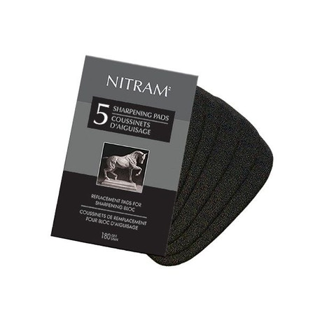 Nitram Sharpening Bloc Replacement Pads Set of 5 | Cass Art