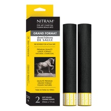 Nitram Demi Bâton de Saule Round Stick Soft Charcoal Set of 2