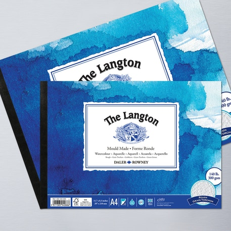 Daler Rowney The Langton Watercolour Pad 300gsm 12 Sheets Rough | Cass Art